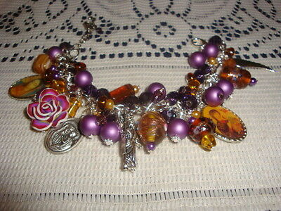 Bracelet Religious Charms Medals Saint Lady Of Guadalupe/st.perpetual/angel