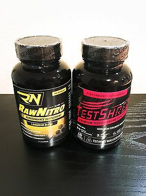 Pure Raw Nitro NO Pro Mass Muscle Pre Workout Test Shred T Boosting Testosterone