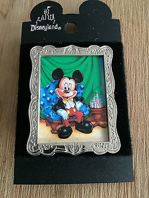 Character of the Month January Mickey Silver Frame Disney Pin with card