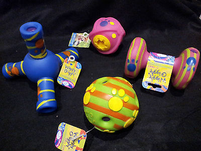 Giggly Wiggly  Dog Toys by Happypet-Laughing  Dumbell Jack Treat Ball Puppy