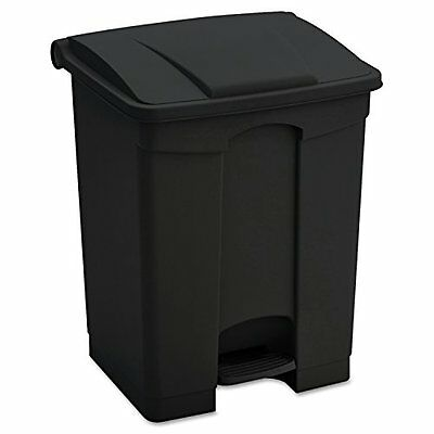 Safco Products 9923BL Plastic Step-On Waste Receptacle 23-Gallon Black