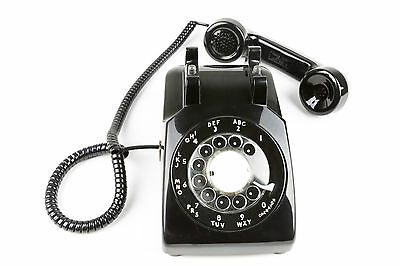 Meticulously Refurbished & Restored Western Electric Rotary Dial Phone - Black