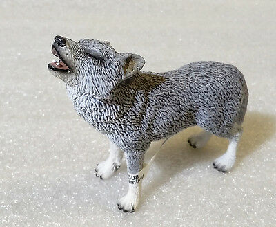 RARE Schleich Pvc Animals ✱ HOWLING WOLF ✱ Discontinued 2010 Beautiful NEW