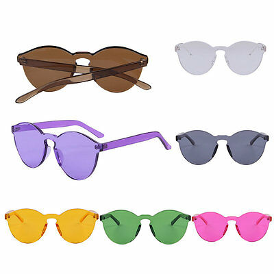 The New Korean Outdoor Plastic Sunglasses Retro Glasses Without Frame UV400 AU
