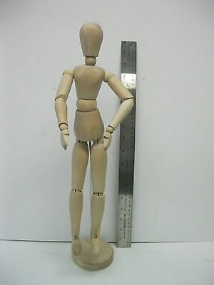 Large Female Artist Wooden Mannequin Manikin 16'' inches with stand