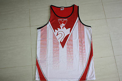 Sydney Swans Training Singlet Kids Youth sizes 8 12 only