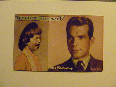 "FRED MacMURRAY  ""THEN and NOW"" Arcade Card"
