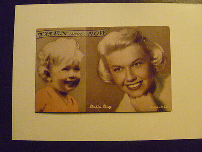 "DORIS DAY   ""THEN and NOW"" Arcade Card"