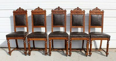 Set of 4 Italian Umbertine side chairs 19th Century to early 1900s