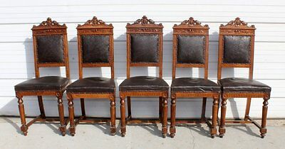 Set of 6 Italian Umbertine side chairs 19th Century to early 1900s