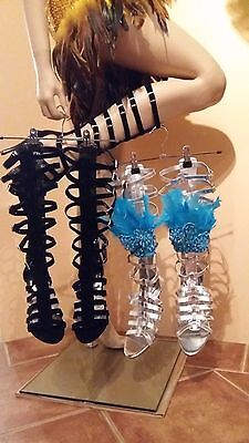 Brazil SAMBA Gladiator Heel Boots Shoes Carnival Costume Choose your Size - NEW