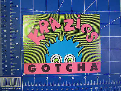 1980s Gotcha Krazies Surf Paper clothing sticker VINTAGE