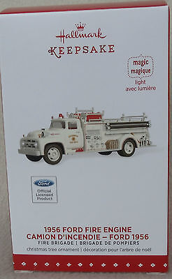 Hallmark Keepsake 2015 1956 Ford Fire Engine 15th in Fire Brigade Series NIB