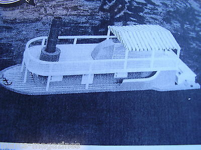 A Model Boat Plan Lucille Paddleboat 2 Channel R/c