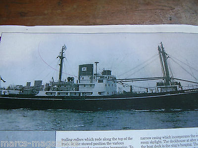 A Model Boat Plan Sandpiper Navvies Coaster Scale 1:100 On A3