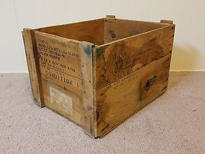 Vtg 1953 Wood Box Crate Edgewood Arsenal Army Chemical Corps MRVP Aberdeen MD