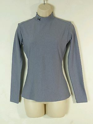 Under Armour Womens Mock Turtleneck Athletic Gray Sweater Great Condition Large