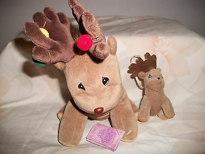 Enesco Precious Moments Plush Tender Tails Brown Reindeer And Baby