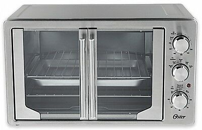 Oven French Door Convection Stainless Steel Adjustable Controls Timer X-Large
