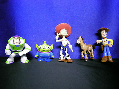 5 Toy Story Figures 5 Toy Story Cake Toppers 5 Toy Story Characters