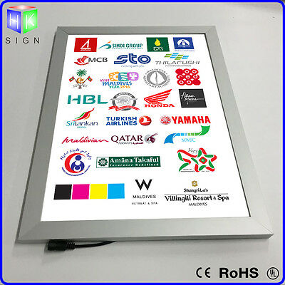 High Brightness Aluminum Magnetic LED Lighted Wall Mounted Picture with A3 size