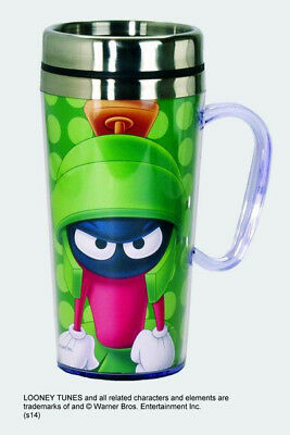 Marvin The Martian 15 oz Acrylic Insulated Stainless Steel Travel Mug NEW UNUSED