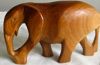 Collectable-Vintage-Retro Wooden Elephant -Figural-Ornament (19)