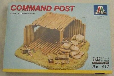 Command Post Model Kit - Scale 1:35 - No. 417 by Italeri - Complete