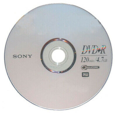 25 SONY Blank DVD+R Plus R Logo Branded 16X 4.7GB Disc in Paper Sleeves