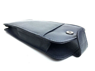 Navy Blue Leather Soft Glasses / Spectacle Case by Golunski Standard Size - 887