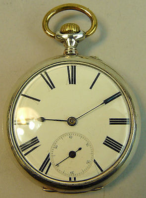 Antique German Silver Ornately Decorated Pocket Watch 1890 - 1910