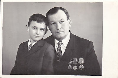 Russia 1975 Military Decorated War Veteran Photo