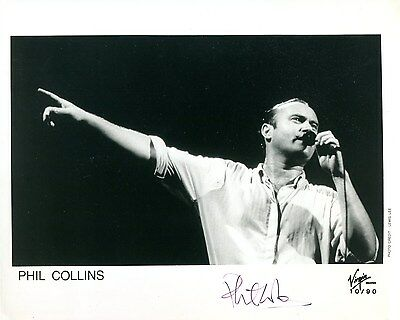 autographe PHIL COLLINS dédicace signed photo signiert autografo