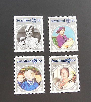 Swaziland 1985 Queen Mother's 85th Birthday SG486/9 MNH UM Unmounted mint