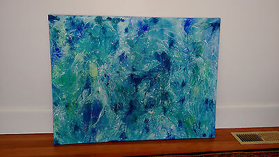 Large Abstract Canvas Painting Modern Original Art 100x75cm