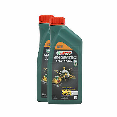 Castrol Magnatec Stop-Start 5W-30 A5 Fully Synthetic Engine Oil 2 x 1 Litres 2L