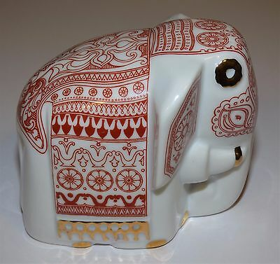 Porcelain Red Elephant Ceylon Tea Mlesna Sri Lanka (Empty)