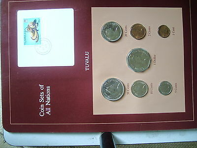 Coin Sets of all Nations Tuvalu 7 Coin set 1985