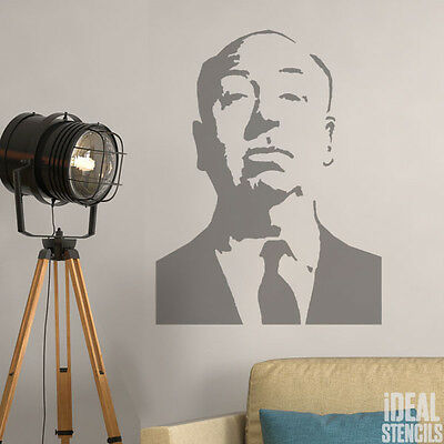 Alfred Hitchcock Stencil Home Wall Decor Art Craft Paint Reusable Ideal Stencil