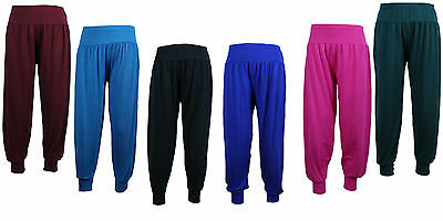 Girls Kids Yoga Plain hareem Harem pants Trousers 3/4 Pants Leggings 2-13 Years