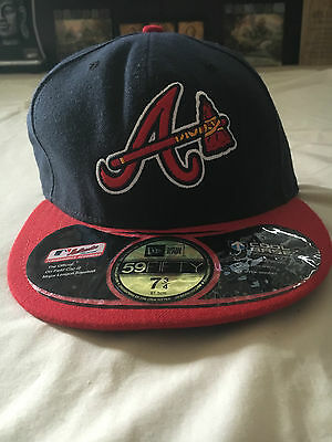 Atlanta Braves Alternative Cap 59Fifty Basic Fit Mlb Cap Size 7 3/4