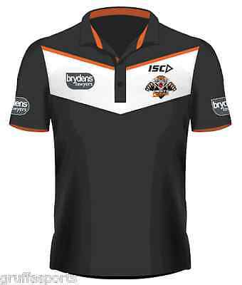 Wests Tigers 2017 Players Polo Shirt Sizes S - 4XL Available NRL ISC SALE