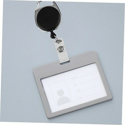 Retractable Reel Pull Key ID Card Badge Tag Clip Holder Carabiner Style CU