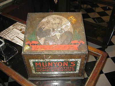 Antique Munyon's Homeopathic Home Remedies Medicine Display Cabinet