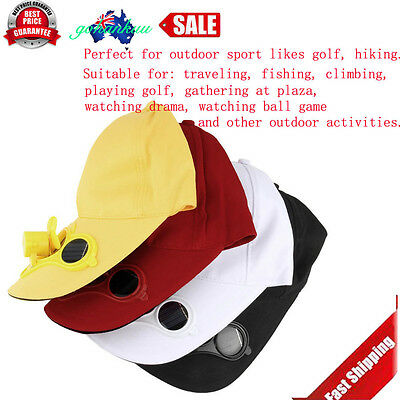 Summer Sport Outdoor Hat Cap with Solar Sun Power Cool Fan For Cycling CU
