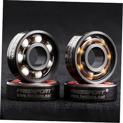 608RS Good Roller Skates Ceramic Ball Inline Skate Bearings Drift Plate CU