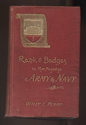 RANKS & BADGES IN HER MAJESTY'S ARMY by Perry 1887