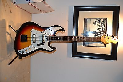 Norma Electric Bass Guitar w/ Double Pickup 1967 Black / Sunburst