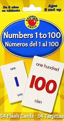 Numbers 1 to 100 Flash Cards Brighter Child 54 Cards English And Spanish