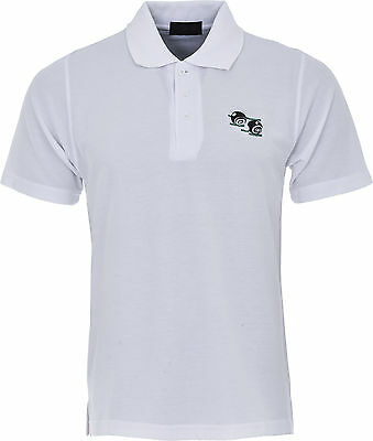 Mens Bowling Tshirt Embroidered Bowls Bowling Logo White Polo Shirt